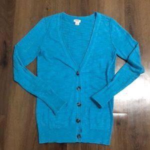 Mossimo Teal vneck button up cardigan, small